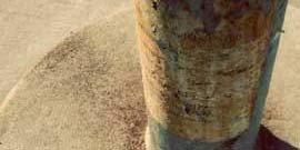 Сухое бетонирование столбов для забора
