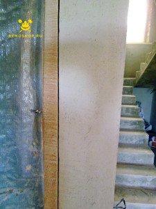 На фото изображено создание закругленных стен в квартире