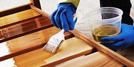Обработка дерева лаком – как получить совершенное покрытие?