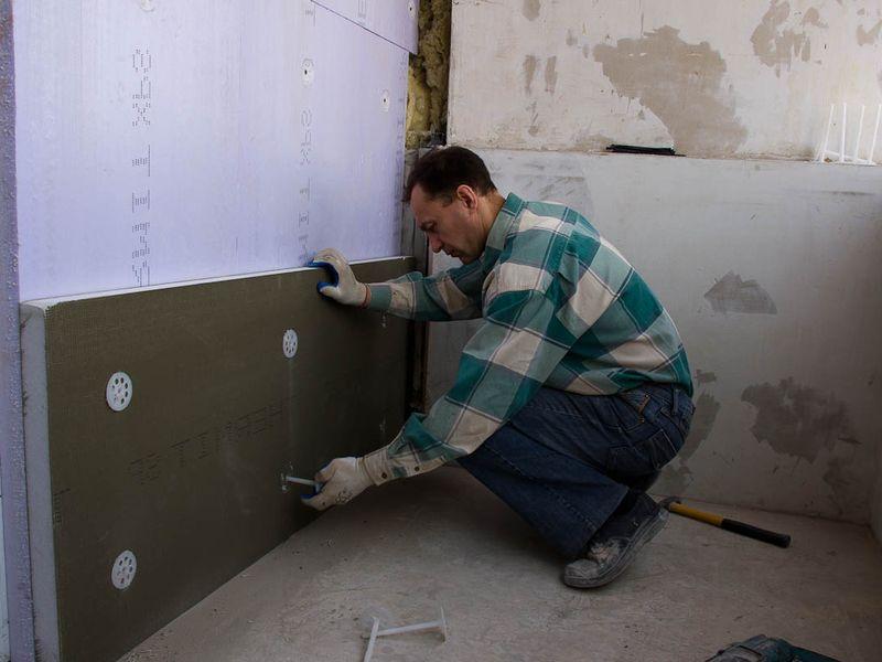 Утепление стены пенопластом своими руками