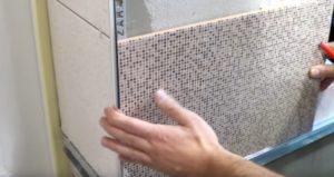 Монтаж внешних и внутренних уголков в ванной (фото)