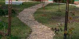 Дорожки из гравия – достоинства и недостатки щебенки под ногами