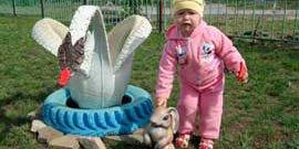 Как оформить детскую площадку – своими руками от ландшафта до украшения