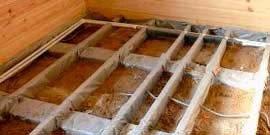 Утепление пола в деревянном доме – своими руками создаем преграду холодам