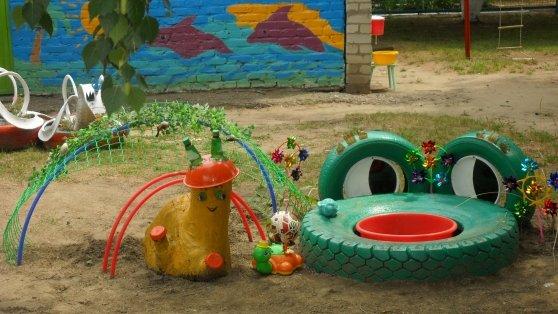 Как благоустроить детскую площадку своими руками фото