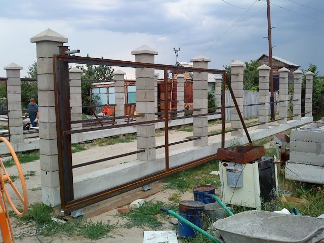 Ворота и калитка своими руками фото