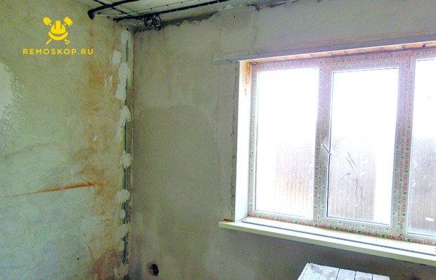 Подготовленные стены для штукатурки