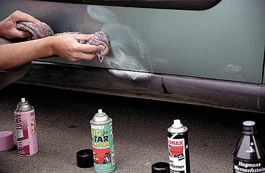 Как убрать битумные пятна на машине фото