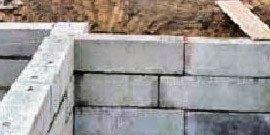 Фундамент из блоков ФБС – основание-конструктор для дома