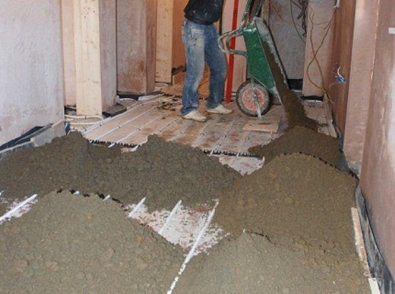 Цементная стяжка пола рассчитать стоимость работ