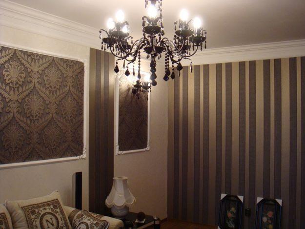 Обои для гостиной: 60 фото в интерьере, комбинирование, цвет