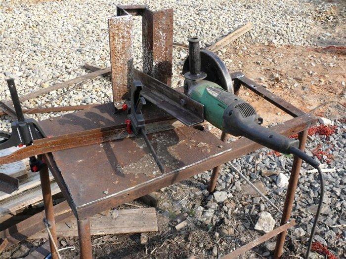 Отрезной станок из болгарки своими руками - как сделать по металлу, для тротуарной плитки и др, чертежи + фото и видео