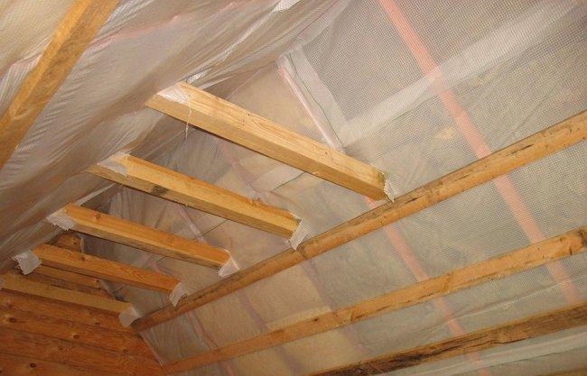чем обшить брус крыши изнутри гаража Добавить свой