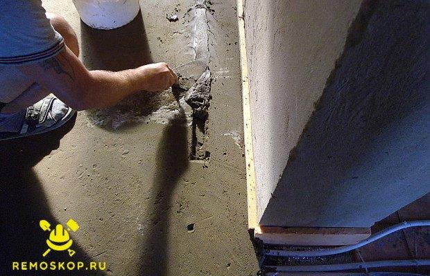 Заделываем ямы от труб