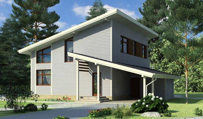 Каркасные дома с плоской крышей своими руками