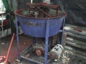 Фото самодельного принудительного бетоносмесителя, electrik.org