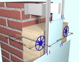 Крепление пенопласта к стене дюбелями – пошаговая инструкция фото