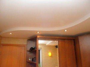 Двухуровневые потолки из гипсокартона – варианты оформления