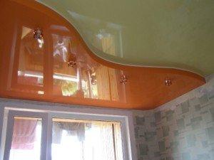 Двухуровневые потолки из гипсокартона – варианты оформления фото