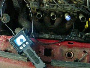 Фото диагностики автомобиля видеоэндоскопом, checkengine-spb.ru