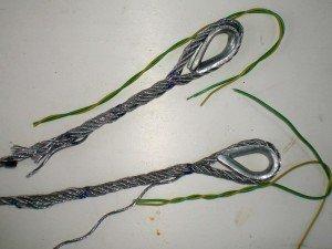 Фото процесса плетения троса на коуш, reaa.ru