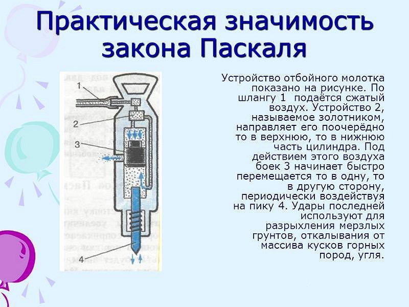 отбойный молоток пневматический устройство принцип