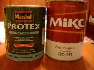 На фото - яхтный и алкидный лаки, by-hand.ru