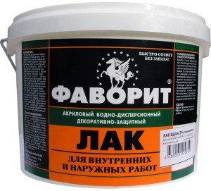 На фото - акриловый лак для стен на водной основе, bazis-prom.ru