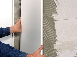 На фото - как поклеить панели ПВХ на стены своими руками, osnovam.ru