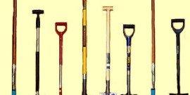 На фото - размеры штыковых лопат