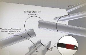 Как состыковать потолочный плинтус в углах – тонкости процесса