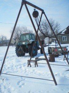 Фото самодельной ручной тали, fermer.ru
