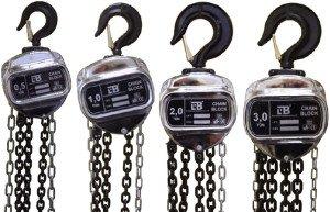 На фото - тали ручные цепные тип HSZ-J, domcar.ru