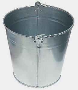 Фото ведра строительного металлического 15 л, profinstrument.su