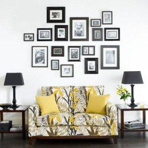 На фото - украшение комнаты фотографиями, myfotopoint.ru