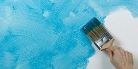 Кисть-флейц и художественный декор при покраске