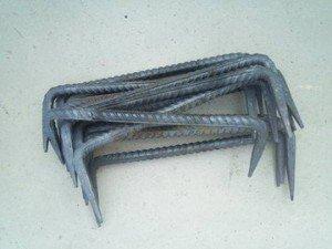 Фото металлических скоб из арматуры, metaprom.ru