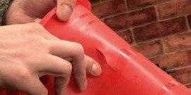 Фото трещины на пластиковом ведре
