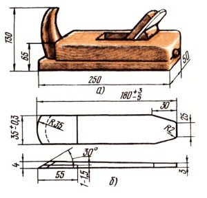 На фото - конструкция шерхебеля, wood-deal.ru
