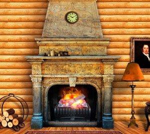 Какие бывают электрокамины с эффектом живого огня? фото