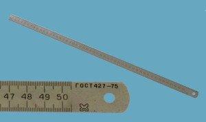 Фото металлической измерительной линейки по ГОСТу, chipmaker.ru