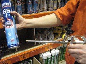 На фото - пистолет для монтажной пены, polimerplus.info
