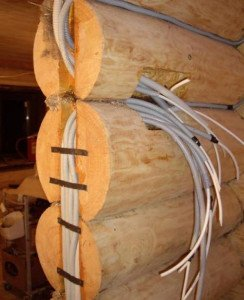 Фото установки скрытой проводки в частном доме, srubnbrus.com