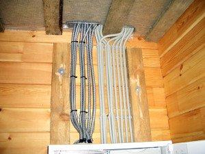 Фото электропроводки в деревянном доме, psst.su