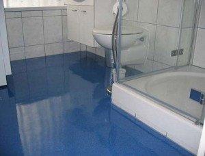 Фото эпоксидного наливного пола в ванной комнате, seel-partner.com.ua