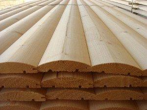 На фото - деревянные панели блок-хауса, algenubi.ru
