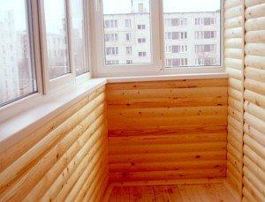 На фото - балкон блок-хаус, leon96.ru