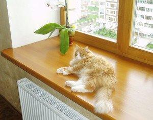 Фото - как сделать широкий подоконник, novye-okoshki.ru