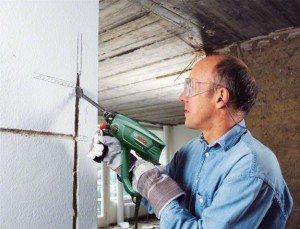 Фото штробления стены под электропроводку, remont-plys.ru