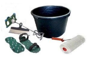 На фото - инструменты для создания наливного пола, moy-domik.com